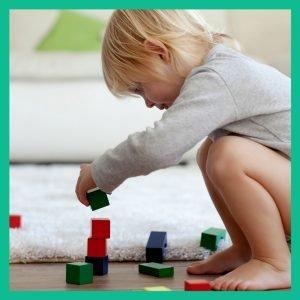 toddler block play